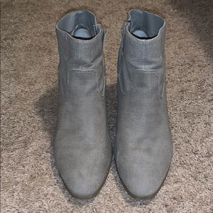EUC Grey leather size 12 booties